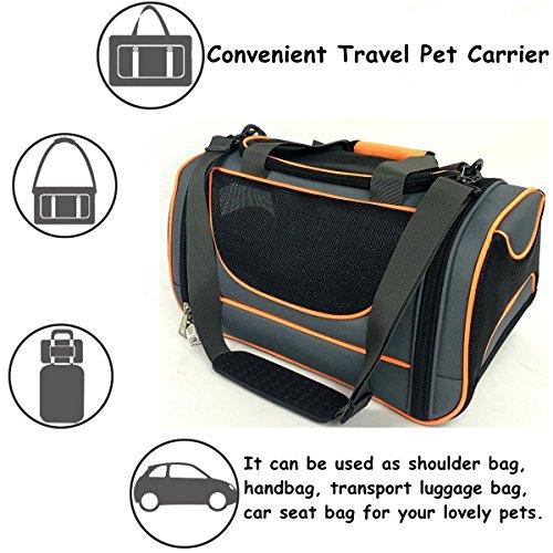 Pet Bag Approved Airline, weiche Kante, Pet Carrier, tragbarer Hund, Katze Brieftasche, Outdoor, Umhängetasche, Tasche, Hund, Katze, Käfig, Sitz, atmungsaktiv Staubbeutel.
