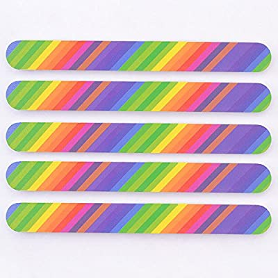 BAILUN-5PCS Nail Art Colorful Buffing Sanding File 2-Side Manicure Acrylic Buffer Tool