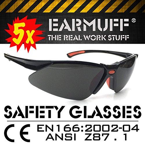 5x SET *STINGER* Sport Schutzbrille, Sicherheitsbrille, Schießbrille, Arbeitsschutzbrille,...