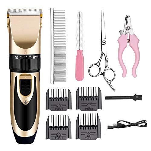 KUNSE 220V/100V-240V Elektrorasierer Low-Lärm Animal Pet Dog Cat Razor Grooming Clipper Trimmer