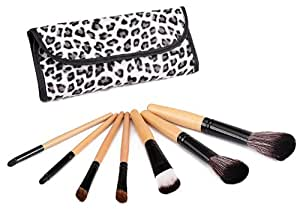Glow 7 Makeup Brushes Set in Leopard Print Case