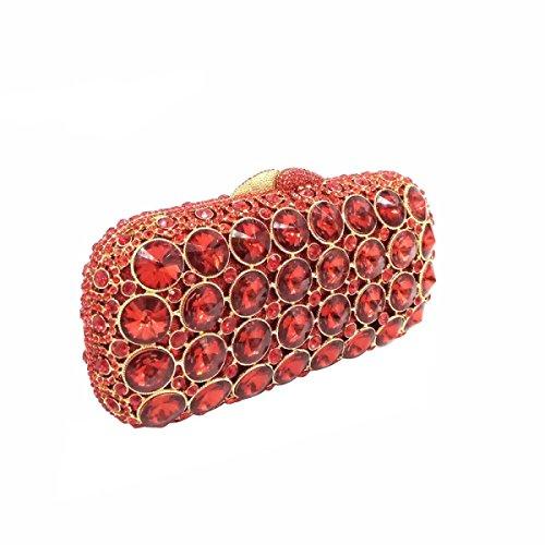 Borsa Gioiello Di Sera Diamante Di Lusso / / Ad Alto Grado Di Vuoto Di Frizione Completo Frizione Red