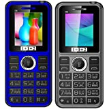 KECHAODA ONEANTWO D6 Blue+ D6 Grey, Dual Sim Mobile Combo Of Two With 1800 Mah Battery Capacity , Vibration Feature And 1 YEAR Manufacturer Warranty