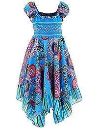 GILLSONZ Neu601vDa Mädchen Kinder Sommer Freizeit Kleid