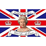 GIZZY® Queen Elizabeth 90th Birthday Commemorative 5' x 3' flag