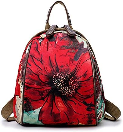 e81db1d32a Zaino da donna impermeabile Daypack impermeabile donna stampa Vintage  Oxford Cloth Outdoor Shopping 88b70c