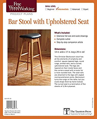 Fine Woodworking's Bar Stool with Upholstered Seat Plan