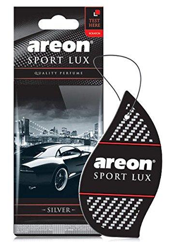 Areon sport Lux qualità Perfume/Cologne cartone auto deodorante sport Lux argento (confezione da 5)