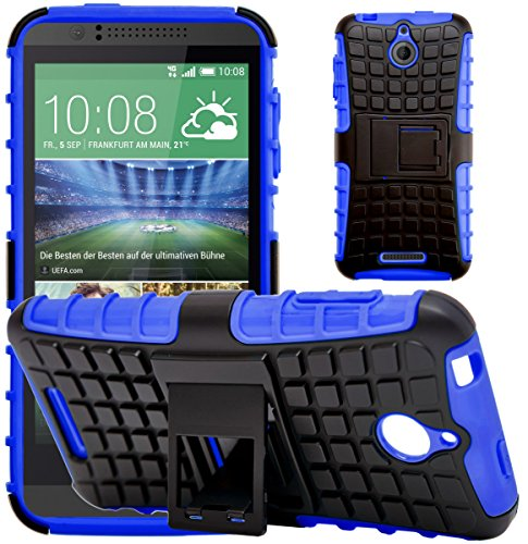 G-Shield Hülle für HTC Desire 510 Stoßfest Schutzhülle mit Ständer - Blau