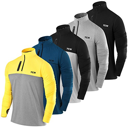 Men's TCA Fusion Pro QuickDry Long Sleeve Half-Zip Running Top