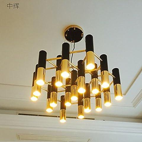 Generico TJDlight moderna Villa soggiorno sala da pranzo semplice e personalità creative dopo il lampadario , artigianato originale nero + oro