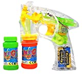 Best GENERIC Bubble Solutions - Happy Kids Flashing Bubble Gun Transparent Shooter w/ Review