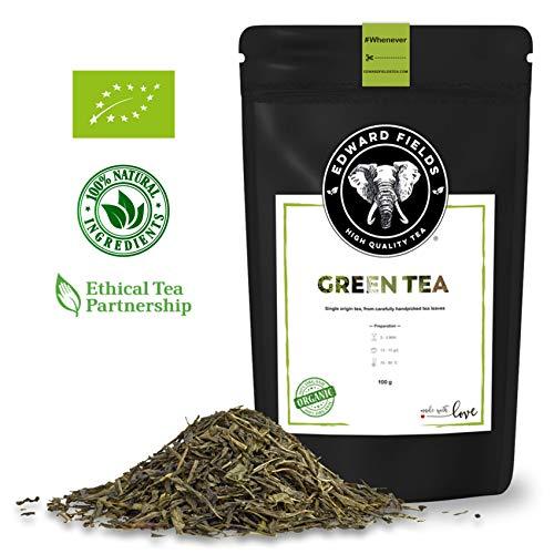 Edward Fields ® - Té Verde Orgánico de alta calidad. Cantidad: 100g. Formato: Granel. Origen: China