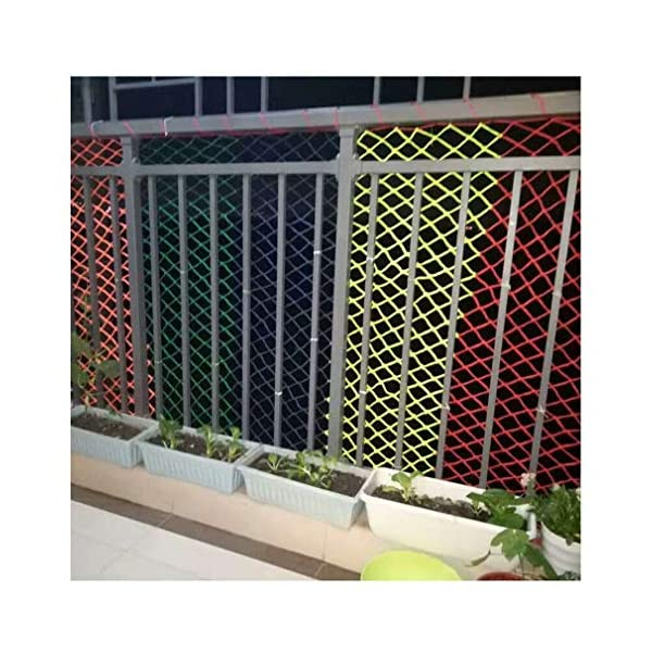 Children's Climbing Net, Color Rope Net, Fence Net, Pet Cat Stair Anti-fall Net, Garden Plant Protection Net, Wall Ceiling Amusement Park Decoration Net Size: 1×5M (Size : 3 * 7M)  ✪ Material: Polyester braided rope, hand-tightened, so that the mesh has greater tensile strength and strong impact resistance. Climbing Net. ✪ Three strands of rope: Woven with three strands of rope, precision wiring, workmanship, high temperature baking, dyeing, anti-corrosion, waterproof, sunscreen, anti-reinforced braided rope is not easy to break, durable. Climbing Net. ✪ Hand-woven: Lightweight child safety stair protection net, high-grade sturdy fabric, professional knotting, multi-strand weaving, make the rope more durable, has strong impact resistance, and protect children's safety. Climbing Net. 3