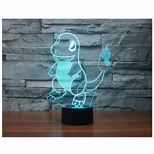 LED ZNZ Illusion Lumière Lumineuse Salle des Enfants De Bande Dessinée Anime Petite Lampe De Table USB Charge Toucher Sept Couleurs Night Light (1-7),006