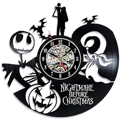 Cauchemar avant Noël Horloge vinyle Best Idée Cadeau