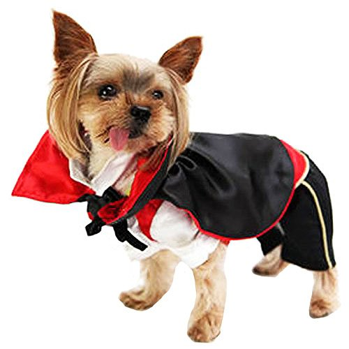 Animally® Hunde Vampir Kostüm - Dracula Halloween (L)