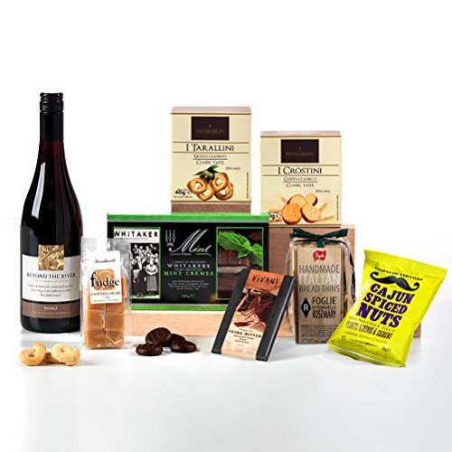 Hay Hampers Luxury Wine & Nibbles Hamper Box - FREE UK delivery