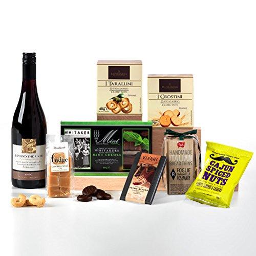 Hay Hampers Luxury Wine & Nibbles Hamper Box - FREE UK delivery