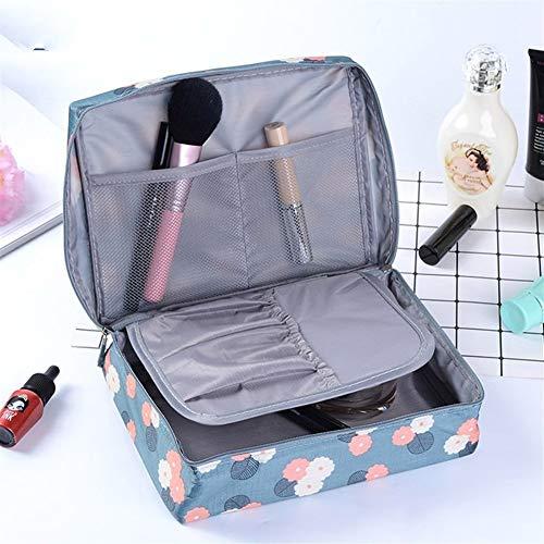 DANANGUA Heißer Verkauf Multifunktions Reise Kosmetiktasche Frauen Make-up Taschen Toilettenartikel Veranstalter Wasserdichte Weibliche Lagerung Bilden Fällen (Color : Red Flowers, Size : M)