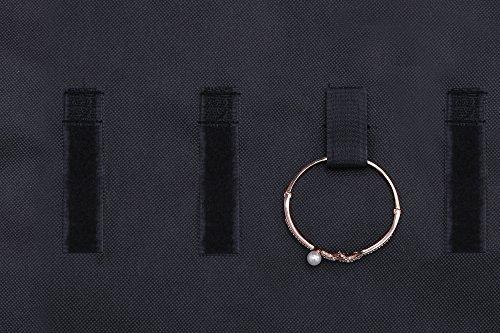 Ezigoo Großer, Doppelseitiger Schmuckhalter Aufbewahrung Schwarz – Ringhalter, Ohrring display - 8