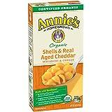 Annie's - Cáscaras orgánicas de los macarrones y del queso y Cheddar envejecido verdadero - 6 oz.