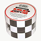 ISC Checkerboard Black and White Checkerboard Tape: 3 in. x 15 yds. (Black and White / Square pattern)