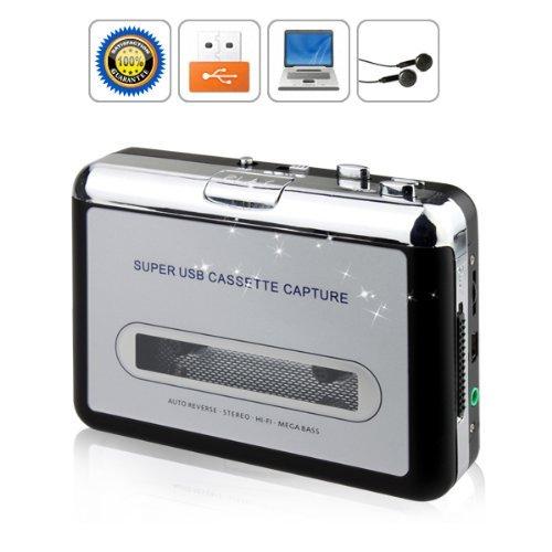 ,tragbarer USB-Kassetten-Konverter, Kassetten zu PC/MP3, silber ()