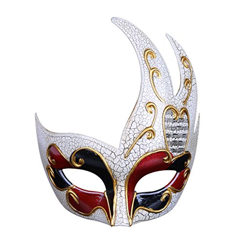 ame Styling Cracked Herren Maske Party Party Performance Maske Festival des Masques D'halloween,Red ()