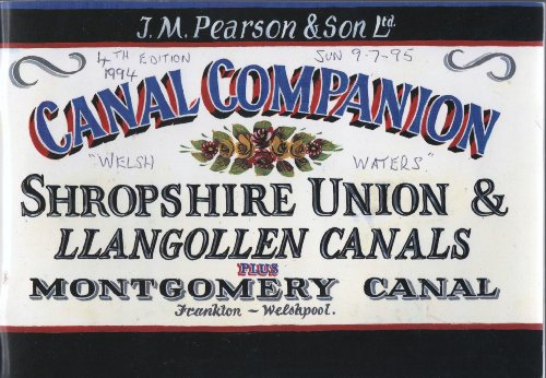 Pearson's Canal Companion: Shropshire Union/Llangollen & Montgomery Canals