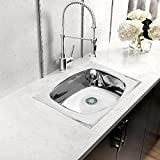 #3: Klaxon Kitchen Sink - Stainless Steel Sink for Kitchen, Medium Size 18 in X 16 X 8 in - Glossy Finish Single Bowl, 202 Grade Stainless Steel