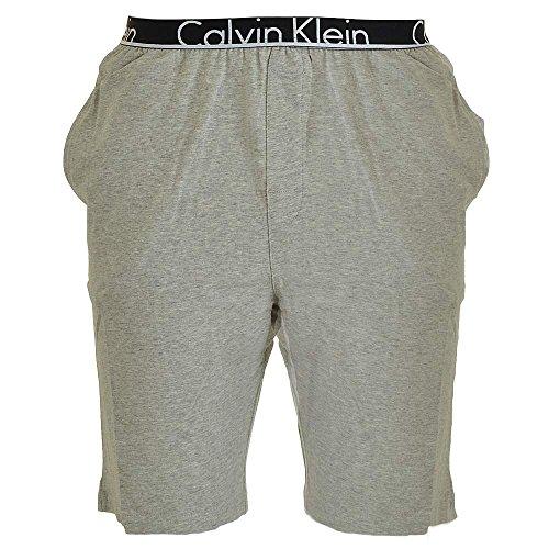 Calvin Klein Herren Logo Waistband Pyjama Shorts, Grau, Medium (Herren-nachtwäsche Klein Calvin)