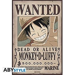 ABYstyle Studio ONE Piece - Poster Wanted Luffy New (52x38)