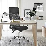 Aingoo Bürostuhl Schreibtischstuhl Chefsessel mit Armlehnen Kopfstütze Bürosessel mit Netzrücken...