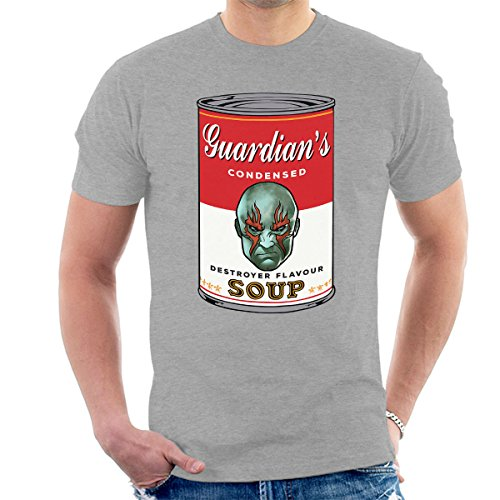 Guardians Of The Galaxy Destroyer Soup Warhol Men's T-Shirt Heather Grey