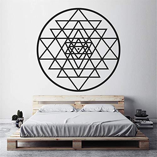 He Wall Stickers Cube Alchemy Geometric Wall Vinyl Sticker Mural 57X57CM