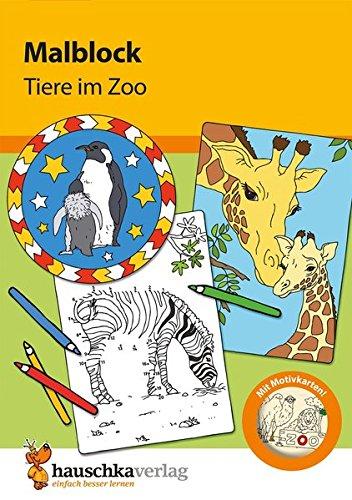 Malblock - Tiere im Zoo (Malblöcke)