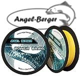 Angel Berger Power Braid Geflochtene Schnur 100% Dyneema (0.18mm gelb)