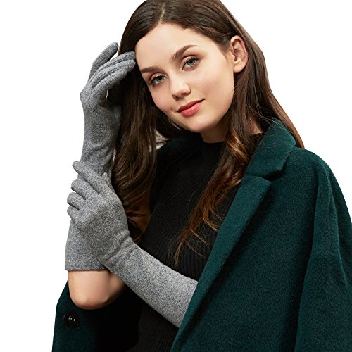 GSG guanti lunghi scaldabraccia da donna inverno caldo lana Smart Touch Screen.