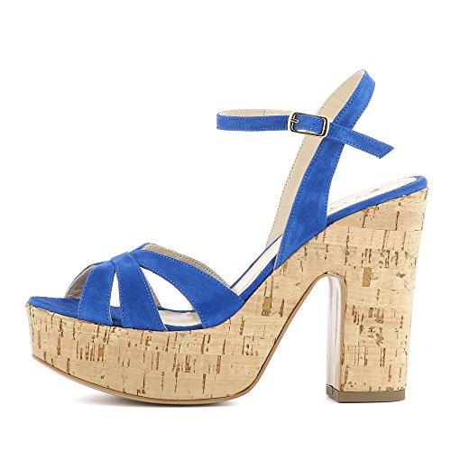LUNA Damen Sandalette Rauleder Blau