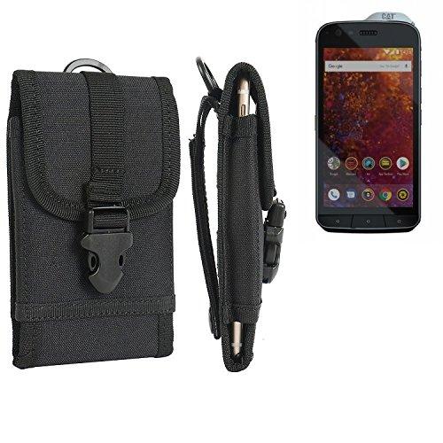K-S-Trade Für Caterpillar Cat S61 Gürteltasche Gürtel Tasche Schutzhülle extrem Robuste Handy Schutz Hülle Smartphone Tasche Outdoor Handyhülle für Caterpillar Cat S61 schwarz
