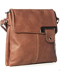 WOMENS MEDIUM MULTI COMPARTMENT CROSS BODY SHOULDER MESSENGER BAG