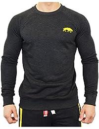 SMILODOX Slim Fit Sweatshirt Herren | Sweater für Sport Fitness & Freizeit | Longsleeve - Langarmshirt Trainingsshirt Langarm - Pullover - Sportshirt mit Aufdruck