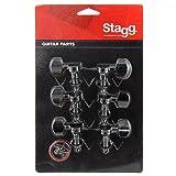 Stagg KG371BK Mécaniques pour Guitare électrique 3 + 3 individuelles Noir