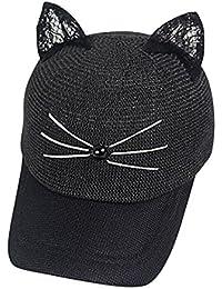 Tinksky 1 Pc Häkeln Geflochtene Katze Ohren Geformt Stricken Nette Beanie Hut Kappe Für Winter Herbst Mädchen Frauen Bekleidung Zubehör