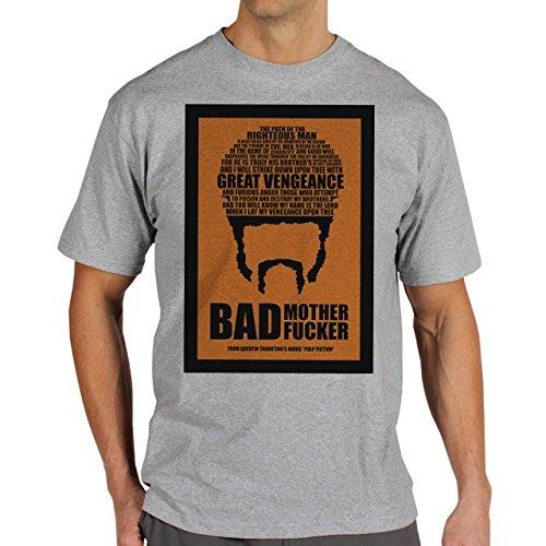 Pulp Fiction Ouentin Tarantino Movie Bad Orange Background Herren T-Shirt Grau
