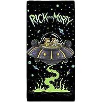Rick y Morty UFO toalla, algodón, multicolor, 70x 0,5x 140cm