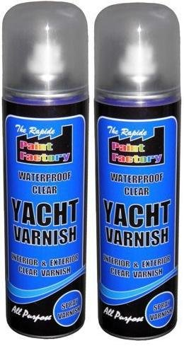 2-x-250ml-waterproof-clear-yacht-varnish-spray-paint-no-cfcs-interior-exterior