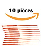 Chaines Neige Plastique universelles Boue Sable Neige 10 Pièces,Antidérapantes, pour Pneus de Largeur 175mm-295mm Voiture/SUV/Camionnette (Ceinture antidérapante pour Jantes)...