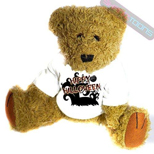 n Geschenk Teddy Bär–errie Baum & GHOULS Geschenk bedruckt Teddy T Shirt–23cm hoch stehend (Bär Happy Halloween)